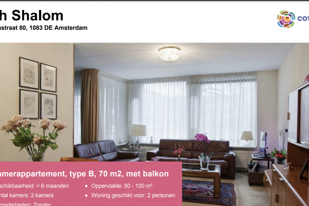Ruime seniorenappartementen te huur in Buitenveldert
